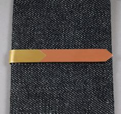 TIE BAR, BRASS AND COPPER :: HICKOREE'S
