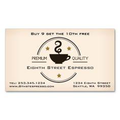 Espresso Coffee Punch Card Business Designbusiness Cardsloyalty