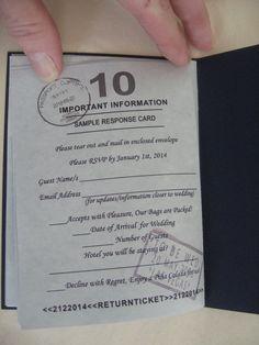 1 Passport Wedding Invitation Sample: Custom Made To Order When Purchased In Multiples. $2.99, via Etsy.