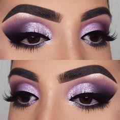 30 lila Smokey Eye Make-up-Ideen zum Auftakt der Partysaison - 18 lila Smokey . - 30 lila Smokey Eye Make-up-Ideen zum Auftakt der Partysaison – 18 lila Smokey Eye Make-up-Ideen z - Eye Makeup Blue, Smokey Eye Makeup Look, Purple Smokey Eye, Makeup Looks For Brown Eyes, Eye Makeup Tips, Eyeshadow Makeup, Makeup Ideas, Makeup Tutorials, Purple Eyeshadow Looks