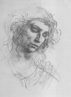 Drawing of a Man - Pietro Annigoni  (1910-1988)