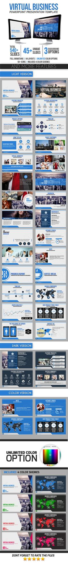 Virtual Business - Business PowerPoint Templates