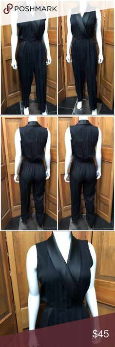 Vintage J.R. Nite • Women's Tuxedo Jumpsuit Medium Item is tagged as a 5/6 but is pictured on a 6/7 // Button Closure   Like this item for pricing updates    Items ship out ASAP (usually next business day)   Answer to Questions / Measurements asked for after 6pm/before 12 Or on Sunday will be delayed but feel free to ask!   Save 15% by purchasing more than one item!   Measurements are Approximate   Keywords: evening vintage romper tux evening j.r. nite Pants Jumpsuits & Rompers