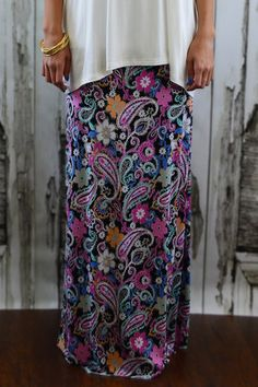Josie Maxi Skirt – The ZigZag Stripe - 10% off with code ZZS9 and FREE shipping. #affordable #boutique #paisley