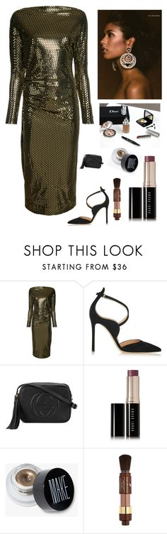 """""""Summer Glow"""" by kotnourka ❤ liked on Polyvore featuring beauty, Vivienne Westwood Anglomania, Gianvito Rossi, Gucci, Bobbi Brown Cosmetics and Lancôme"""