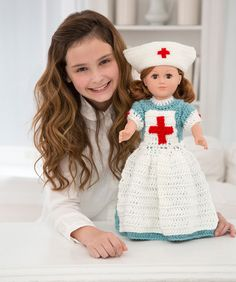 Caring Nurse Doll to Crochet  This pattern is available for a limited time through December 31, 2016