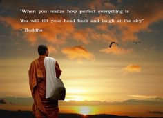 WHen you realize how perfect everything is you will tilt your head back and laugh at the sky. ~Buddha