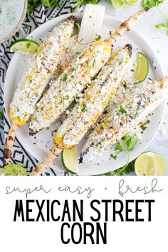 Easy Mexican Street Corn on the Cob- this street corn is super easy to make on the grill and is the perfect side dish that everyone will enjoy! Grilling Recipes, Cooking Recipes, Healthy Recipes, Healthy Food, Greek Recipes, Mexican Food Recipes, Mexican Street Food, Vegetarian Mexican, Street Corn