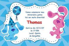 Convite digital personalizado As Pistas da Blue 002