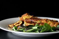 Recipe: Chickpea Flour Omelette With Spinach, Onion, Bell Peppers #vegan