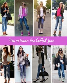 Inspiration for how to wear cuffed jeans