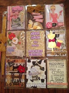 Sewing themed Pocket Letter by Christina Betts