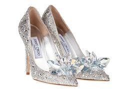 Jimmy Choo Cinderella inspired glass slippers