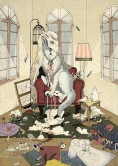 装画《強欲な羊》 by 杏 チアキ | CREATORS BANK http://creatorsbank.com/karamomo/works/276476
