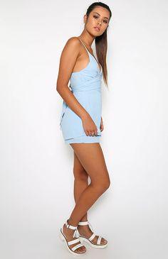 LOFT PLAYSUIT - LIGHT BLUE #fashion #style #trend #onlineshop #shoptagr