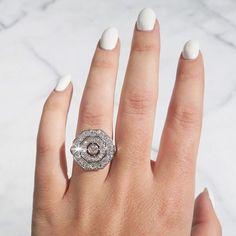 Art Deco Diamond Ring in Platinum #vintage #jewelry #beladora