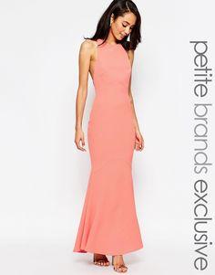 f42390402292 Jarlo Petite Carmelita Maxi Dress with Plunge Back Coral Gown, Orange  Bridesmaid Dresses, Designer