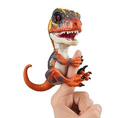 Untamed Raptor by Fingerlings - Blaze (Orange) - Interactive Collectible Dinosaur - By WowWee - Toys Dinosaurs For Toddlers, All Dinosaurs, Dinosaur Toys, Dinosaur Stuffed Animal, Fingerlings Monkey, Wow Wee, Baby Doll Accessories, Popular Toys, The Good Dinosaur