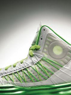 Nike, shoe, fabric, green