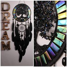 Dream Catcher Black quartz Tree life agate Dreamcatcher Dream