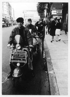 Early 60s mods were French influenced, so they smoked french cigarettes & wore french berets to give them that Continental look !