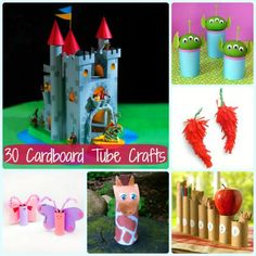 things to do with cardboard tubes, e.g., paper towel roll tubes... for entertaining a 4-year-old