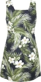 849bbb6f599 Short Tank Dress - Women s White Hibiscus Square Neck Hawaiian Aloha A Line  Dress - Regular and Plus Size