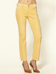 Yellow 7 jeans.  Would be great cuffed for spring/summer.