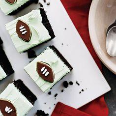 Grasshopper Cake  #recipe #cake #football