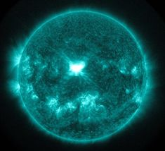 Best Space Images Of 2014 - An extreme ultra-violet wavelength image of a solar flare captured on Sept. 10.