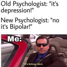 22 Memes That Might Make You Laugh If You Have Bipolar Disor.- 22 Memes That Might Make You Laugh If You Have Bipolar Disorder 22 Memes That Might Make You Laugh If You Have Bipolar Memes Humor, Dark Humor Jokes, Dark Jokes, Stupid Memes, 9gag Funny, Funny Texts, Funny Jokes, Funny Gifs, Funny Cartoons