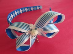 Ice Princess boutique bow alice band
