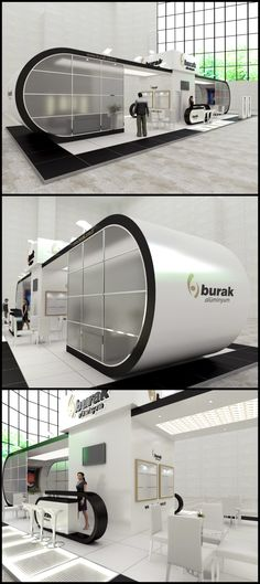 fair stand exhibition design turkey black white
