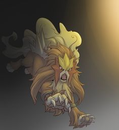 Out from the Dark-Entei by ADAxel.deviantart.com on @DeviantArt