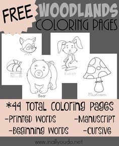 woodland animal baby coloring pages - photo#25