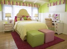 purple not pink      Contemporary Kids Room in Bright Citrus Colors - Home Decorating Ideas – Interior Design Ideas on hometodecor.com