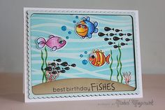 Nichol Magouirk: SSS This Is The Life - Best Birthday Fishes card