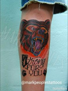 Bear by Mark Peoples done at Gypsy Rose Tattoos