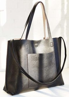 Urban Outfitters Reversible Vegan Leather Tote Bag as seen on Lauren Bushnell