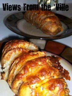 scalloped Hasselback potatoes - cheesy potato heavenly goodness (12Dc_