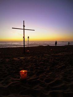 Via Crucis al atardecer en Reñaca