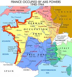 The 65 best war images on pinterest maps cartography and history wwii european front german occupation of france gumiabroncs Choice Image