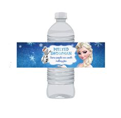 INSTANT DOWNLOAD - Frozen Water Bottle Wraps - Olaf and Elsa Disney Frozen Printable - Melted Snowman - Some People Are Worth Melting For