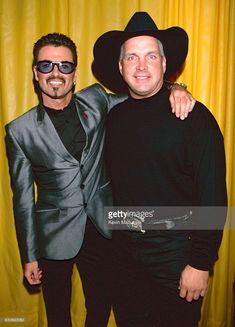 George Michael and Garth Brooks during Equality Rocks Concert at RFK Stadium - April 29, 2000 at RFK Stadium in Washington, D.C., United States.