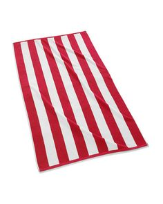 KASSATEX Cabana Stripe Beach Towel Red & White $39 Pick Up or Ships Free http://rain-rossi.mybigcommerce.com/kassatex-cabana-stripe-beach-towel-red-white-39-pick-up-or-ships-free/