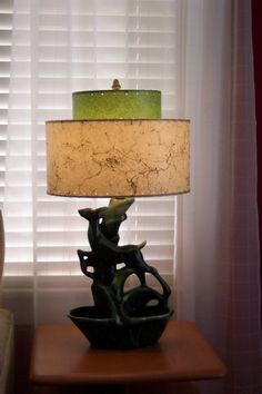 How to make fiberglass lamp shades vintage mid century and mid 1950s lamp base and reproduction fiberglass lampshade meteor lights aloadofball Choice Image