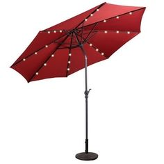 Shop for Costway 10ft Patio Solar Umbrella LED Patio Market Steel Tilt w/ Crank Outdoor (Burgundy). Get free delivery at Overstock.com - Your Online Garden & Patio Shop! Get 5% in rewards with Club O! - 22336566
