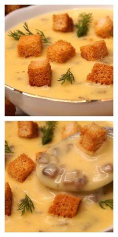 Популярный суп с грибами, вкус которого сводит с ума Clean Recipes, Easy Dinner Recipes, Soup Recipes, Healthy Recipes, Easy Cooking, Cooking Recipes, Good Food, Yummy Food, Cookery Books