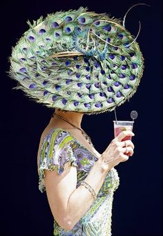 peacock hat - like the dress better, though.