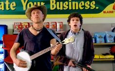 """Woody Haroldson in Zombieland """"nut up or shut up"""""""